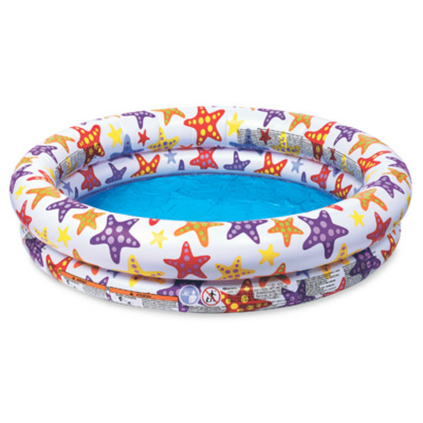 "Intex® 59421EP Inflatable 2-Ring Stars Pool, 48"" x 10"""