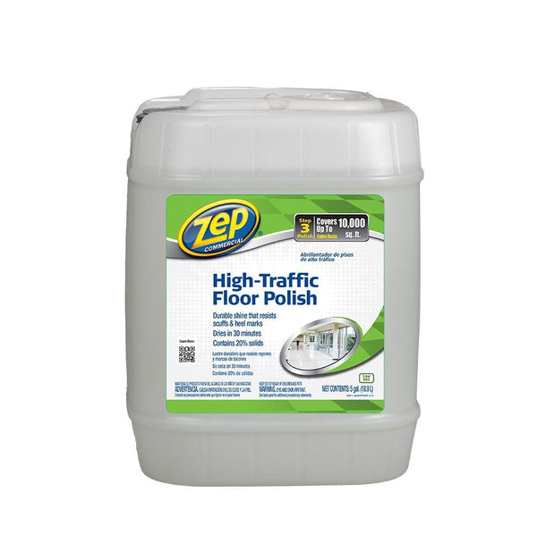 Zep Commercial® ZUHTFF5G High-Traffic Floor Finish Concentrate, 5-Gallon