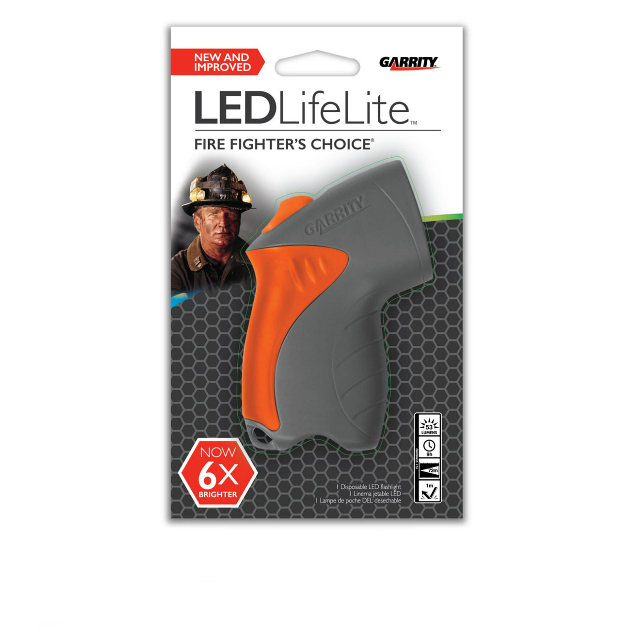 Garrity 65-015 LED LifeLite Disposable Flashlight, Assorted Colors, 53 Lumens