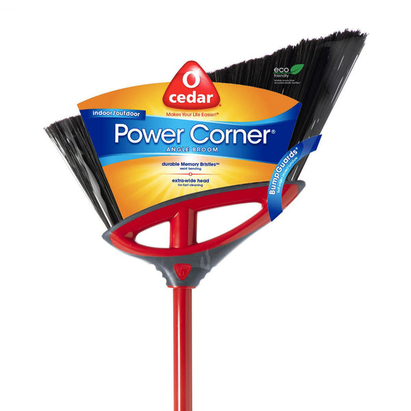 O' Cedar® 151332 Power Corner® Indoor/Outdoor Large Angle Broom