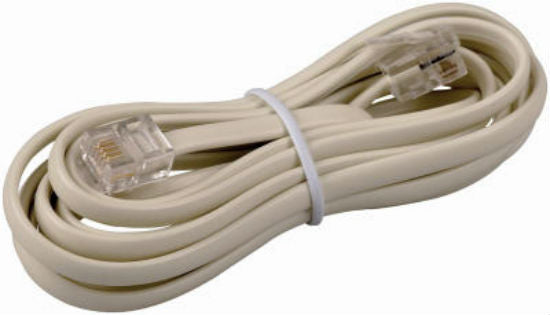 RCA TP210N Modular Line Extension Cord with Connectors, Ivory, 7'