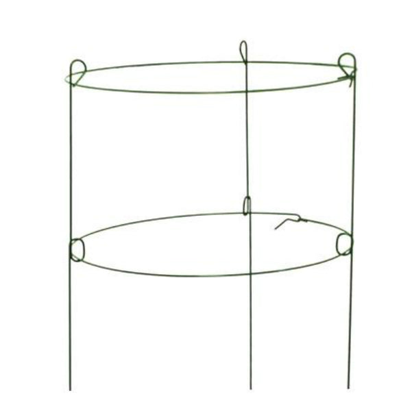 "Panacea™ 89322 Double Peony Ring Steel Plant Support, 3-Legs, Green, 18""x36"""