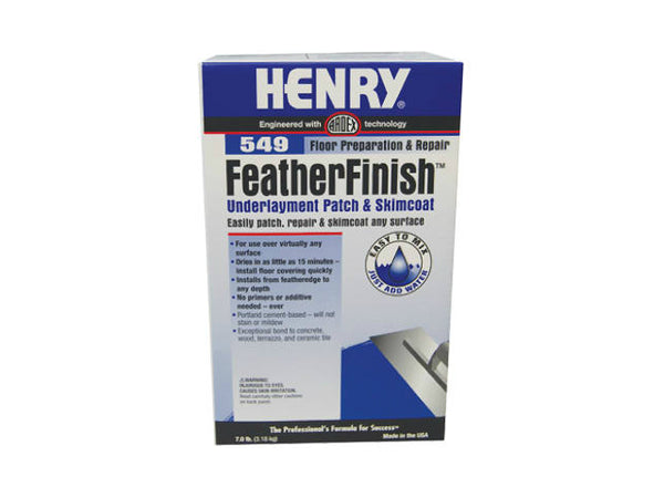 HENRY® 12163Sub Floor Patch & Skim Coat Feather Finish,  #549, 7 Lb