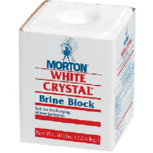 Morton® Salt 1600 White Crystal® Brine Salt Block, 50 lbs