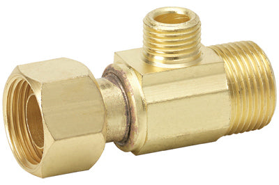 "Homewerks Supply Stop Extender Tee 1/2"" x 3/8"", Brass"