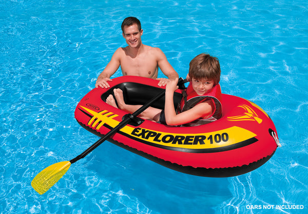 "Intex® 58329EP Explorer 100 1-Person Inflatable Boat, 58"" x 33"" x 14"""