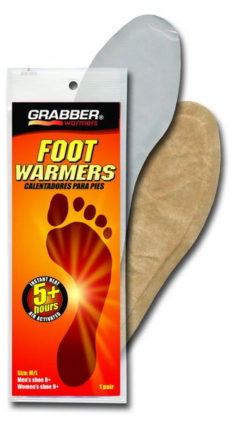 Grabber® FWMLES Full Insole Foot Warmers, Medium/Large, 5+ Hours