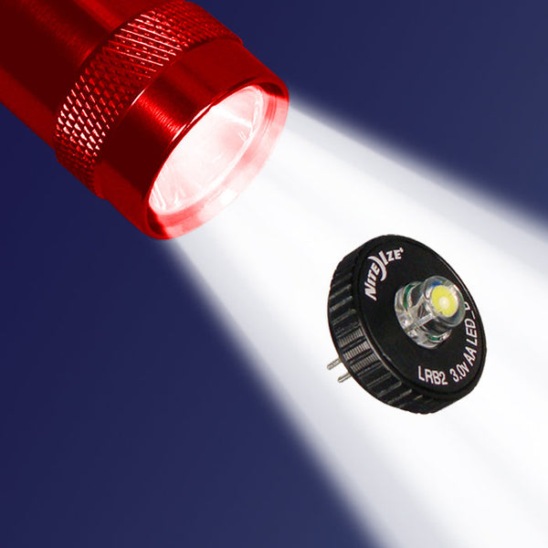"Nite Ize® LRB2-07 White LED Upgrade Kit II for ""AA"" Mini Maglite®"
