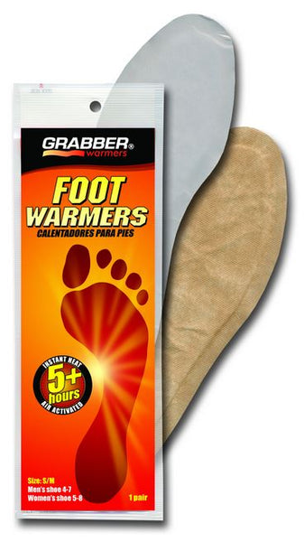 Grabber® FWSMES Full Insole Foot Warmers, Small/Medium, 5+ Hours