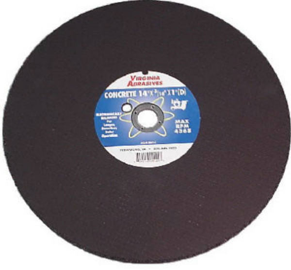 "Virginia Abrasives™ 424-11214 Concrete Masonry Cutoff Wheel, 14"" x 1/8"" x 1"""