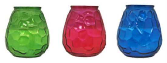Tiki® 1412116 Citronella Wax Glass Candle, Assorted, 60-Hour