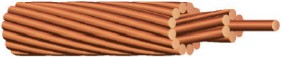 Cerrowire 10665803 Stranded Bare Grounding Wire, 315',Copper, 6 Gauge