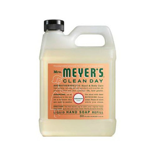 Mrs. Meyer's Clean Day 13163 Liquid Hand Soap Refill, 33 Oz, Geranium Scent