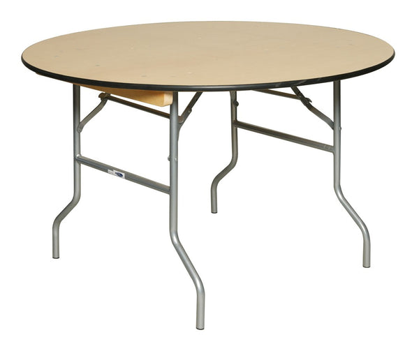 Pre sales 3848 Round Plywood Folding Table, 48""