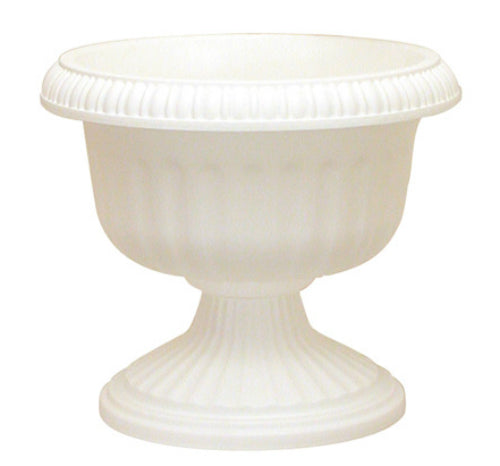 Southern Patio UR1212WH Grecian Urn Planter, White, 12""