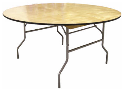"Pre Sales 3860 Plywood Folding Table, 60"", Round"