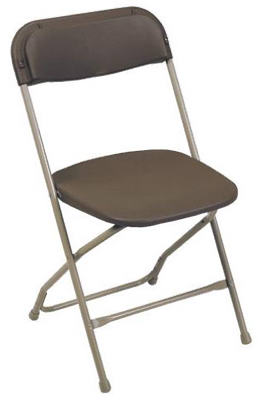 Pre Sales 2190 Plastic Folding Chair, Brown