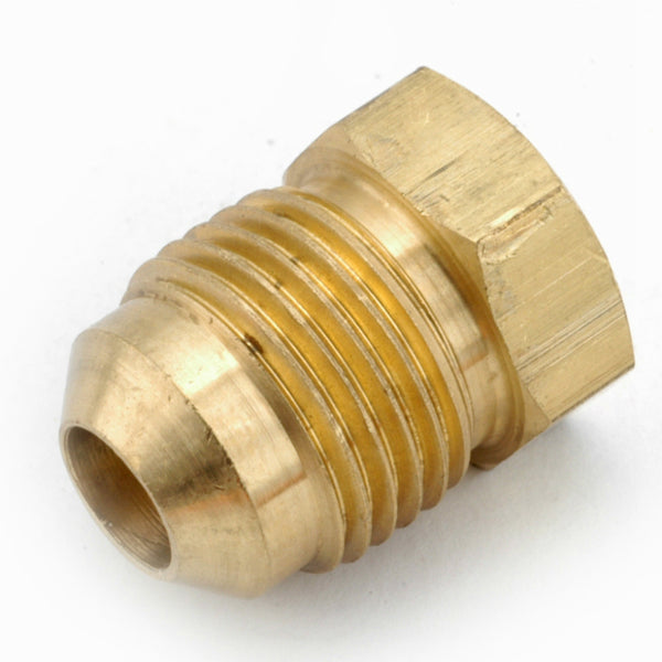 Anderson Metals 754039-06 Lead Free Flare Plug, Brass, 3/8""
