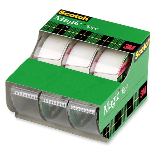 "Scotch® 3105 Magic™ Invisible Tape with Dispenser, 3/4"" x 300"", 3-Pack"