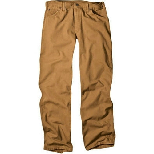"Dickies 1939RBD4030 Men's Relaxed Fit Carpenter Duck Jeans, 40"" x 30"", Brown"