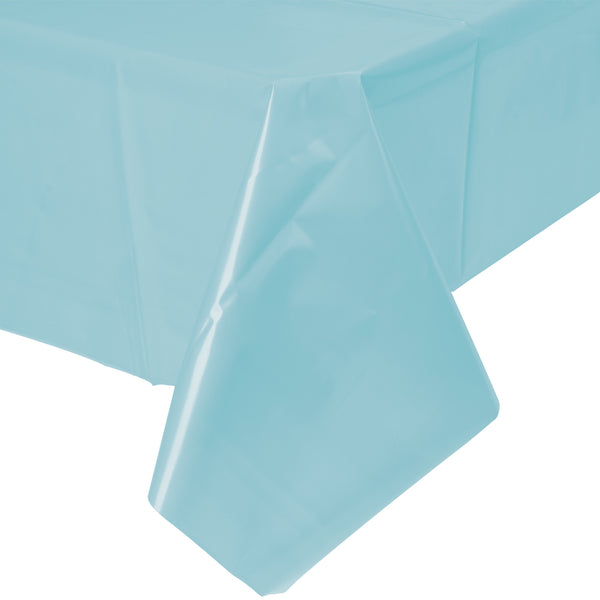 "Creative Converting™ 013025 Plastic Banquet Table Cover, Pastel Blue, 54"" x 108"""