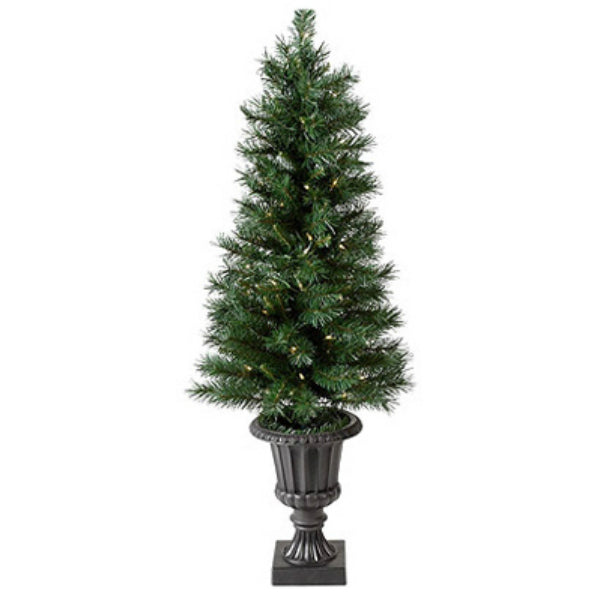 Equinox CPWB1-8417 Westbrook Artificial Porch Tree w/ 70 Twinkle Lights, 4'
