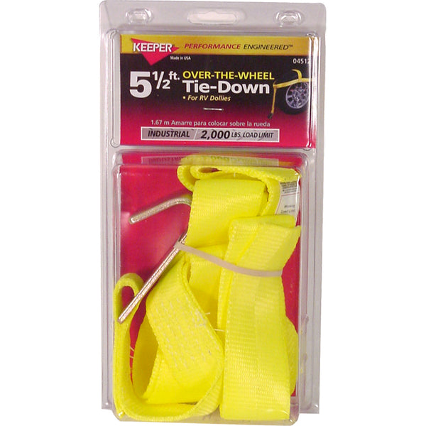 "Keeper® 04512 Over The Wheel Auto Tie-Down Dollie Strap, 2"" x 5-1/2'"