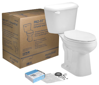 Mansfield Alto Profit 3 SmartHeight Complete Toilet Kit, Bone