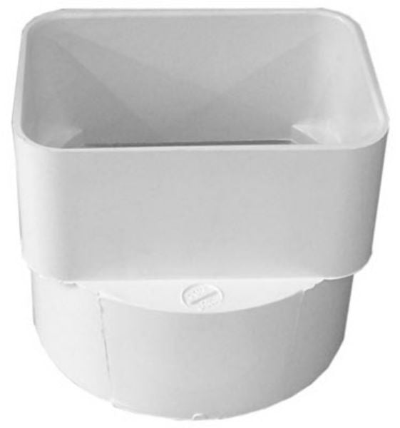 "Genova 45344 PVC Sewer & Drain Downspout Adapter, 3"" x 4"" x 4"""
