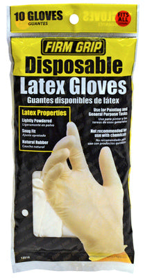 Firm Grip 13512-26 Latex Disposable Painting Gloves, 10-Count