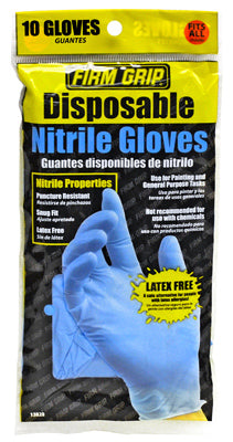Firm Grip 13822-26 Nitrile Disposable Painting Gloves, 10-Count