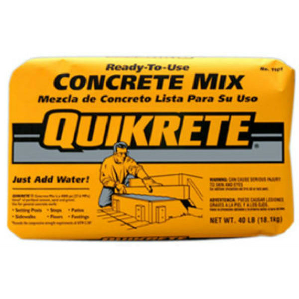 Quikrete® 110140 Ready-To-Use Concrete Mix, 40 Lbs