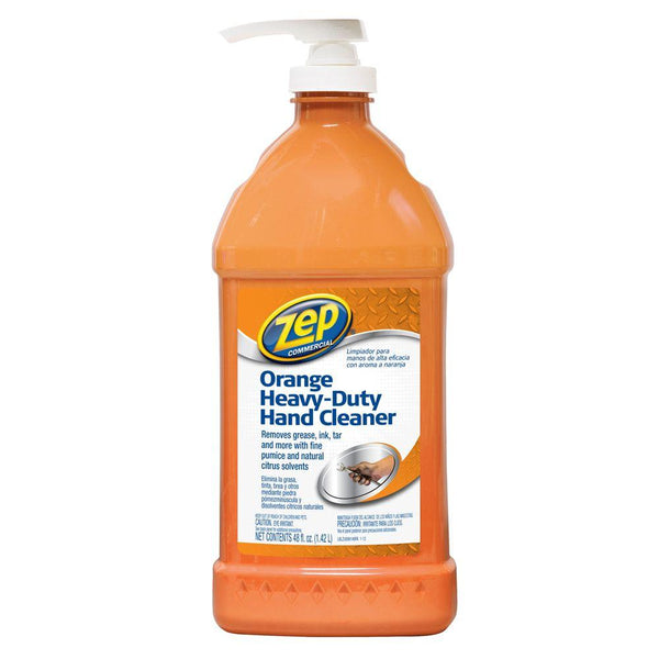 Zep Commercial® ZU099148 Orange Heavy-Duty Hand Cleaner with Pump, 48 Oz