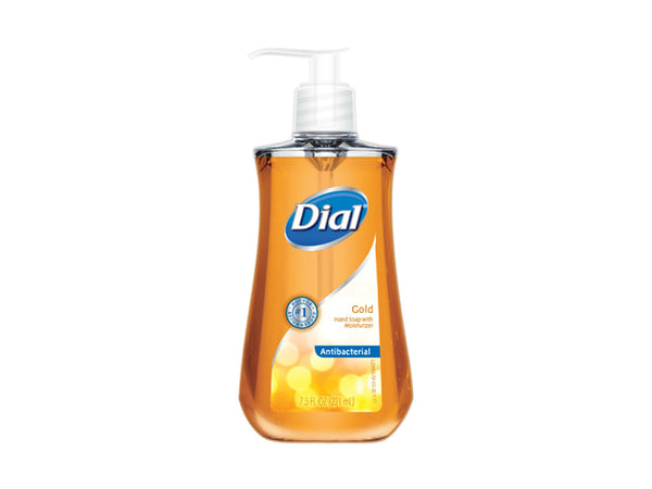 Dial® 09153 Gold Antibacterial Liquid Hand Soap with Moisturizer, 7.5 Oz