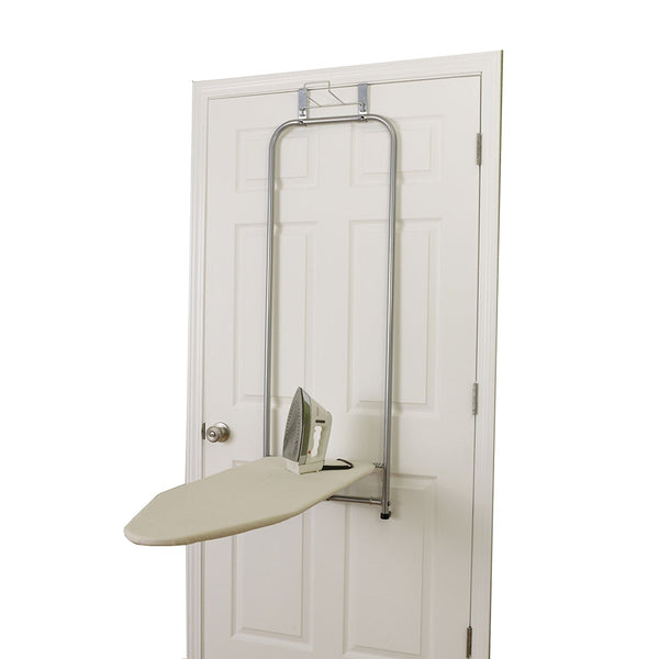 Household 144222 Self-Closing Over-The-Door Ironing Board with Iron Holder