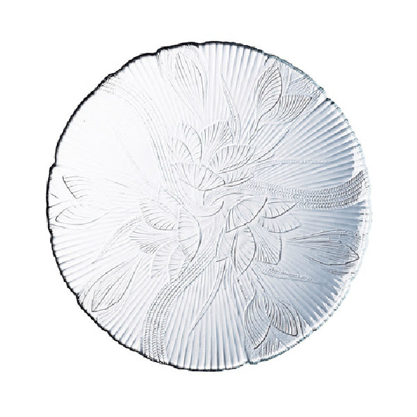Arc International J0169 Embossed Floral Leaf Design Dessert Plate, 7.25""