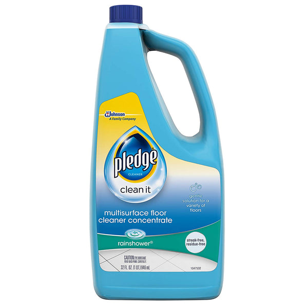 Pledge 74706 MultiSurface Floor Cleaner Concentrate, Rainshower Scent, 32 Oz