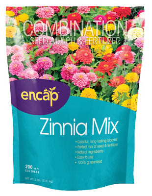 Encap 10806-6 Zinnia Flower Mix, 200 sqft coverage