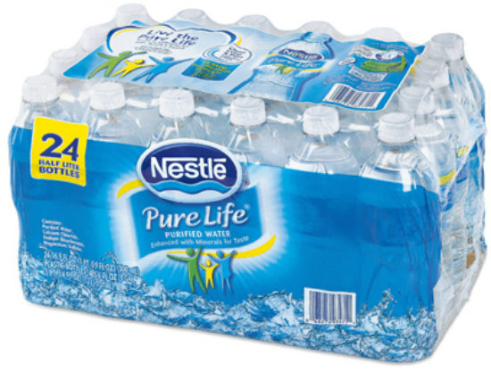Nestle® Pure Life® 12243706 Bottle Drinking Water, 0.5 Liter, 24-Pack
