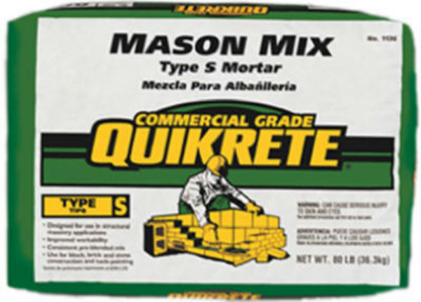 Quikrete® 113680 Commercial Grade Mason Mix Type S Mortar, 80 Lbs