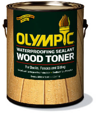 Olympic Waterproofing Sealant Wood Toner, 1 Gallon, Cedar