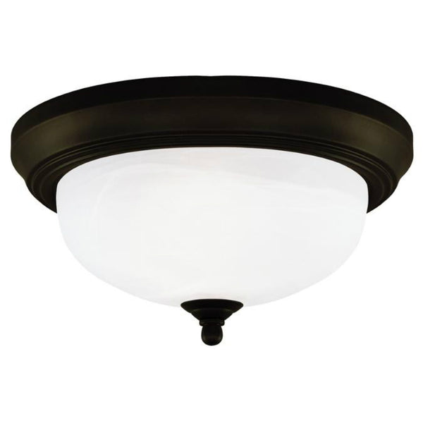 Westinghouse 64291 2-Light Interior Flush-Mount Ceiling Fixture, Oil Rubbed Bronze
