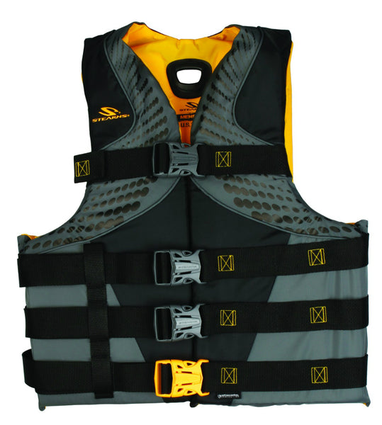 Stearns Men's Infinity Series Antimicrobial Vest, LG/XL, Black/Yellow