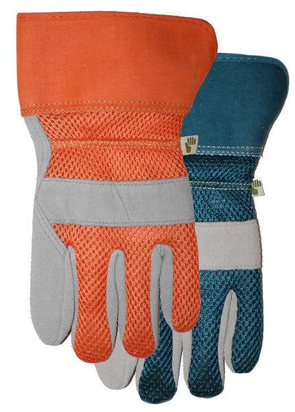 Midwest 534D4 Suede Leather Palm Ladies Garden Gloves, Medium, Assorted Colors