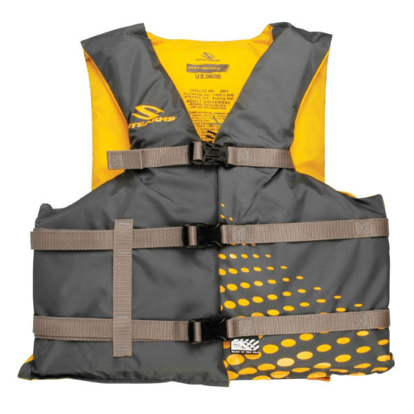 Stearns 3000002204 Adult Classic Series Vest, Black & Yellow