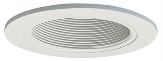"Halo® 993W Coilex® Baffle with Trim Ring, 4"", White"