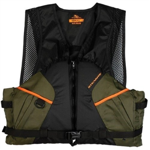 Stearns 2000013803 Comfort Series Fishing Vest, Extra Large, Green/Orange