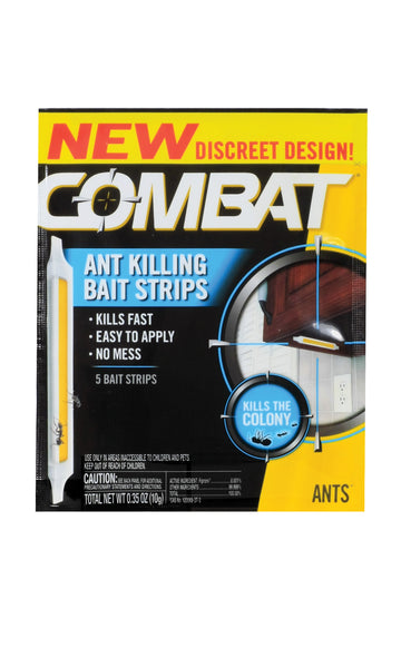 Combat® 00999 Ant Killing Bait Strips, 0.34 Oz, 5 Count