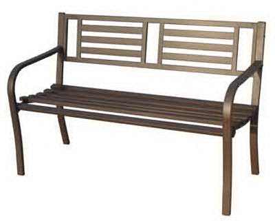 "Imperial Power IP-D1812B Steel Park Bench, 50"", Brown"