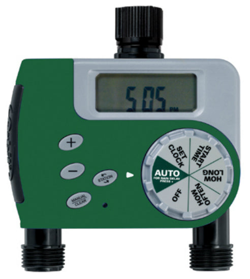 Green Thumb 27248 Digital Watering Timer with 2 Outlet